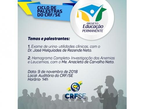 CRF/SE PROMOVE CICLO DE PALESTRAS NO MÊS DE NOVEMBRO