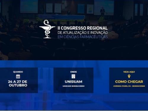 II CONGRESSO REGIONAL DE ATUALIZAÇÃO E INOVAÇÃO EM CIÊNCIAS FARMACÊUTICAS