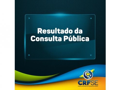 CRF/SE DIVULGA RESULTADO DA CONSULTA PÚBLICA REALIZADA NO PRIMEIRO TRIMESTRE