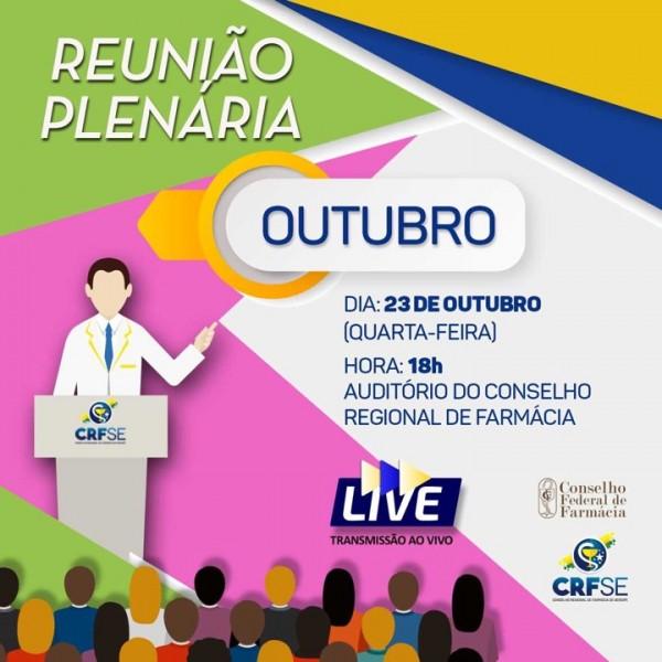 PLENÁRIA DO MÊS DE OUTUBRO ACONTECE NESTA QUARTA-FEIRA