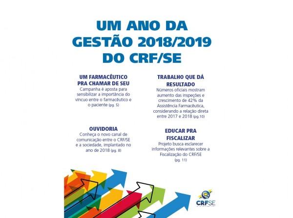 DESTAQUES DO PRIMEIRO ANO DA GESTÃO 2018/2019 DO CRF/SE