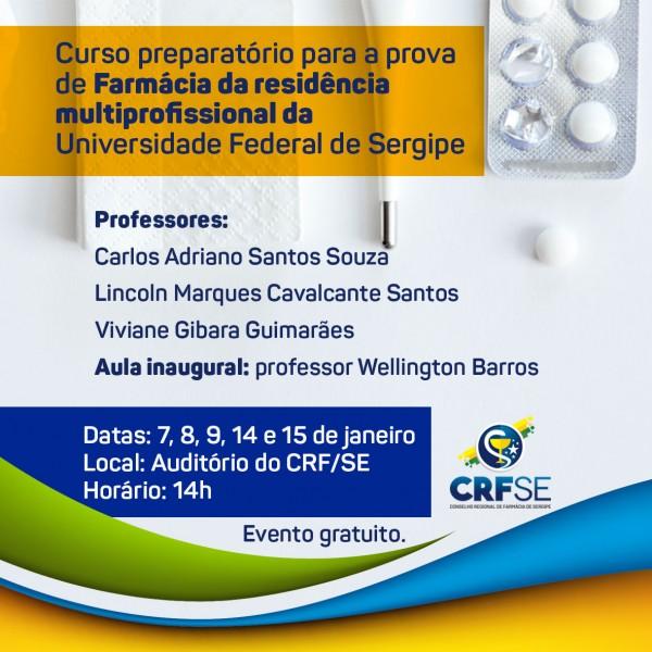 Curso preparatório para a prova de Farmácia da residência multiprofissional da UFS
