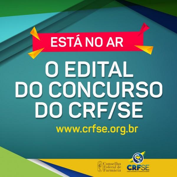 CONSELHO REGIONAL DE FARMÁCIA DO ESTADO DE SERGIPE LANÇA EDITAL PARA CONCURSO PÚBLICO