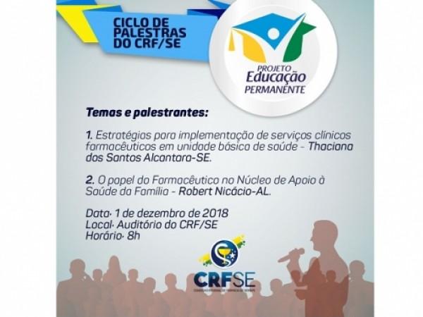 CICLO DE PALESTRAS DO CRF/SE