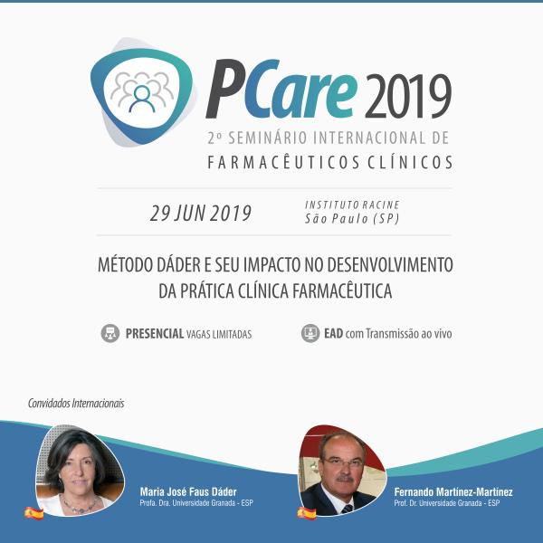 2º Seminário Internacional de Farmácia Clínica - PCare 2019