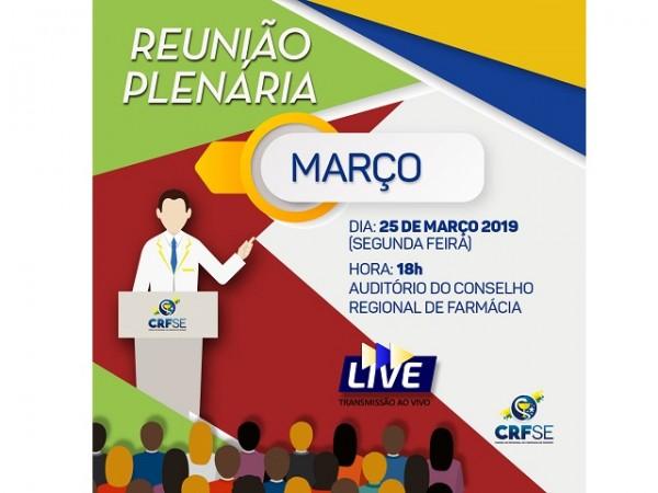 REUNIÃO PLENÁRIA DO MÊS DE MARÇO