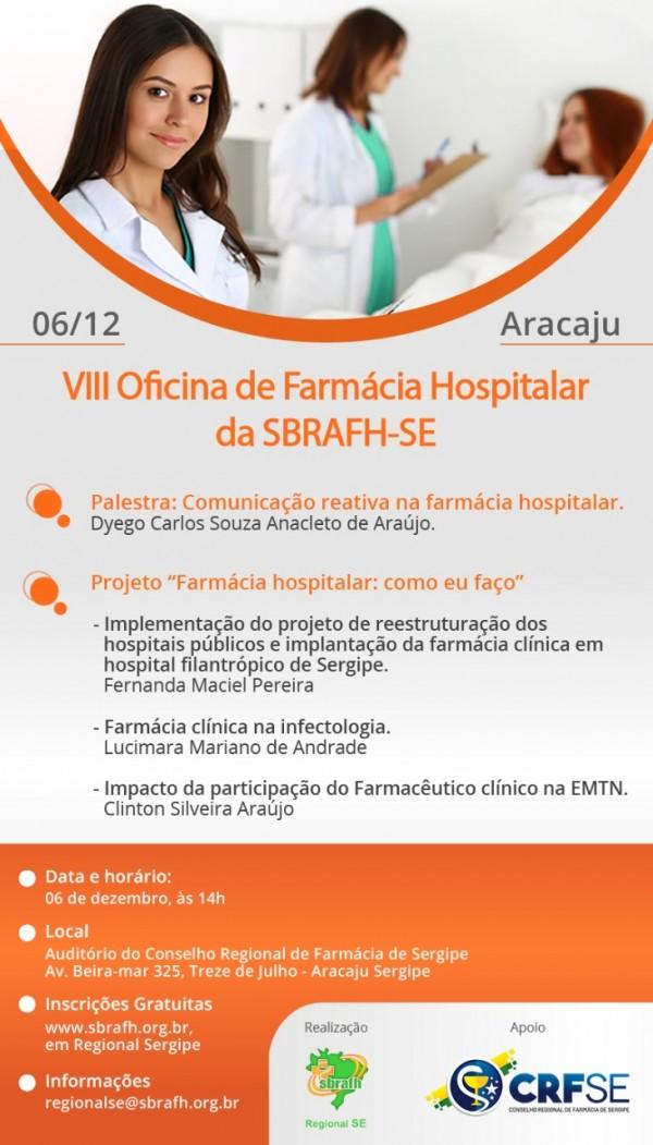 VIII Oficina de Farmácia Hospitalar da SBRAFH-SE