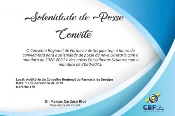 CRF/SE CONVIDA A TODOS PARA A SOLENIDADE DE POSSE