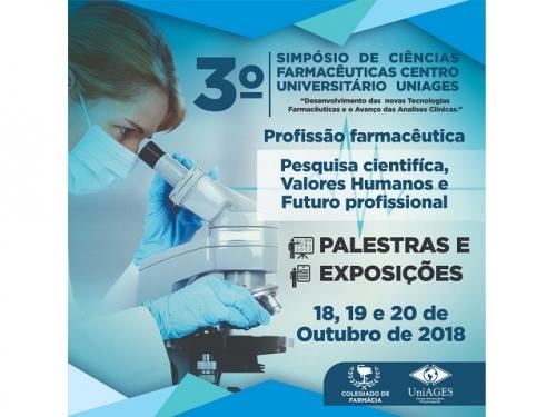 3º SIMPÓSIO DE CIÊNCIAS FARMACÊUTICAS DO CENTRO UNIVERSITÁRIO UNIAGES